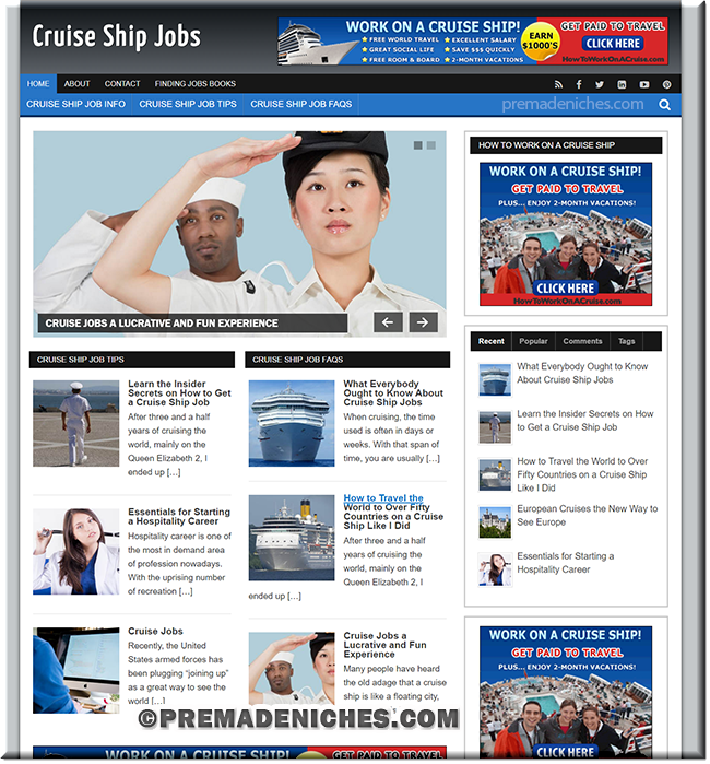 Cruise Ship Jobs PLR Blog