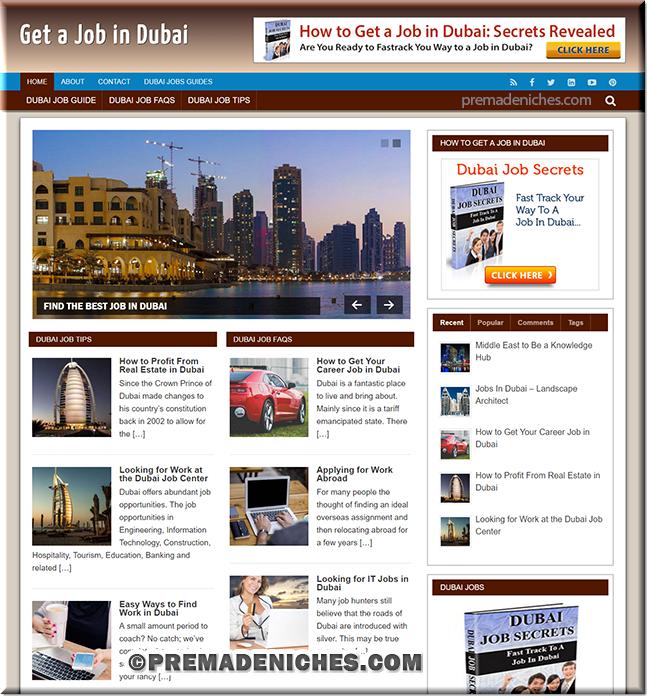 Dubai Jobs Turnkey Site with PLR License