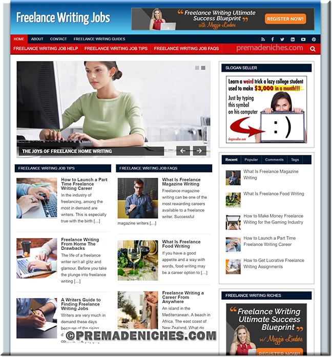Freelance Writing PLR Site