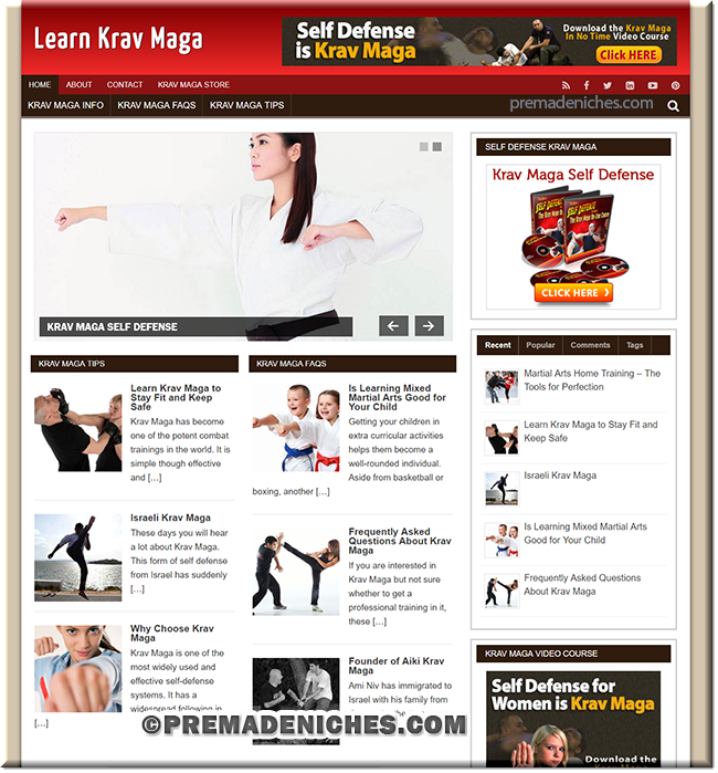 Krav Maga Ready Made PLR Blog