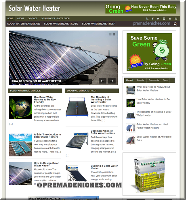 Solar Water Heater PLR Website