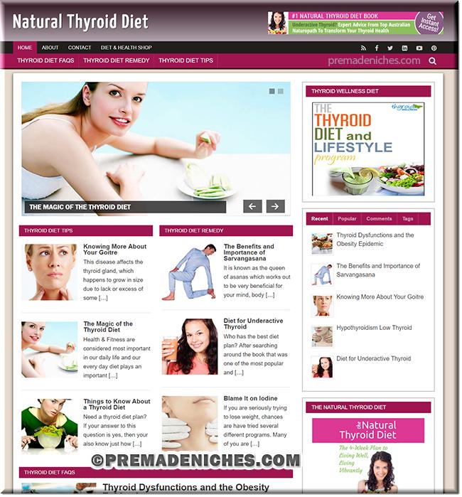 Thyroid Diet Ready Made Blog with PLR
