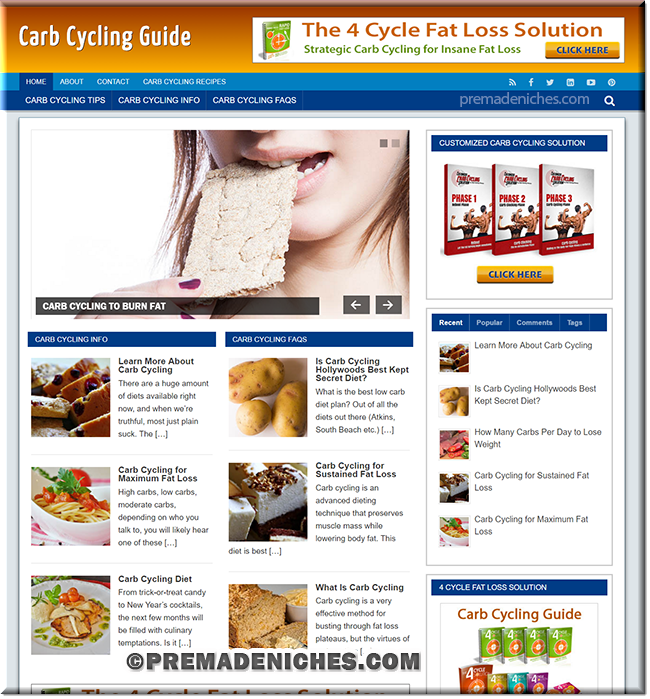 Carb Cycling PLR Site