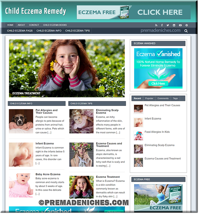 Child Eczema PLR Blog