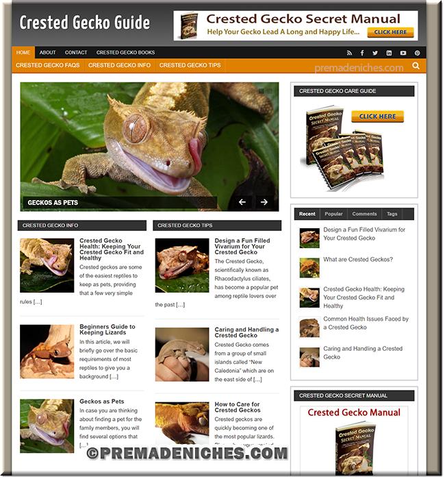 Crested Geckos PLR Site