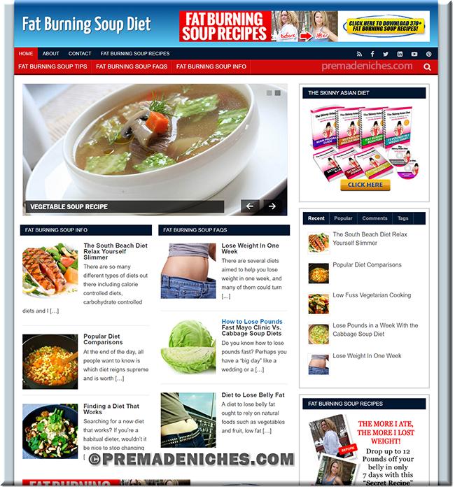 Soup Diet PLR Site
