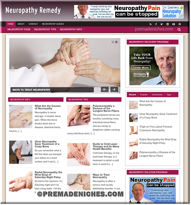 Neuropathy Remedy PLR Website