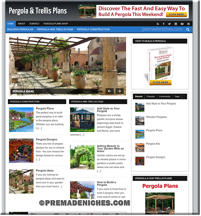Pergola Plans PLR Website
