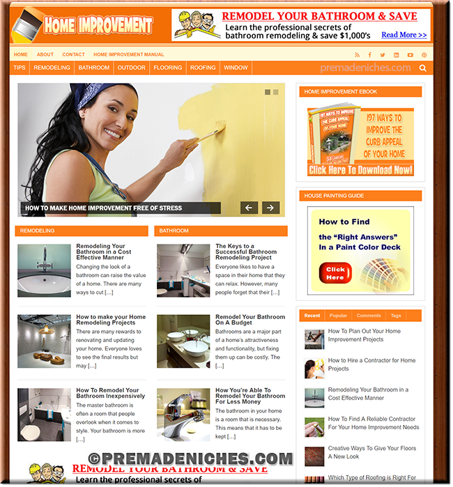 Home Improvement Turnkey Website