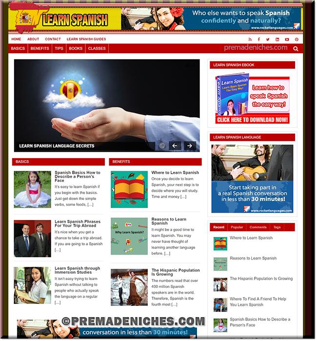 Learn Spanish PLR Turnkey Website
