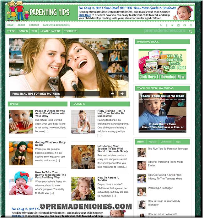 Parenting Niche PLR Website