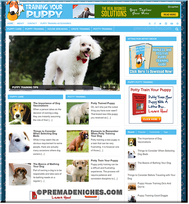 Puppy Training PLR Website