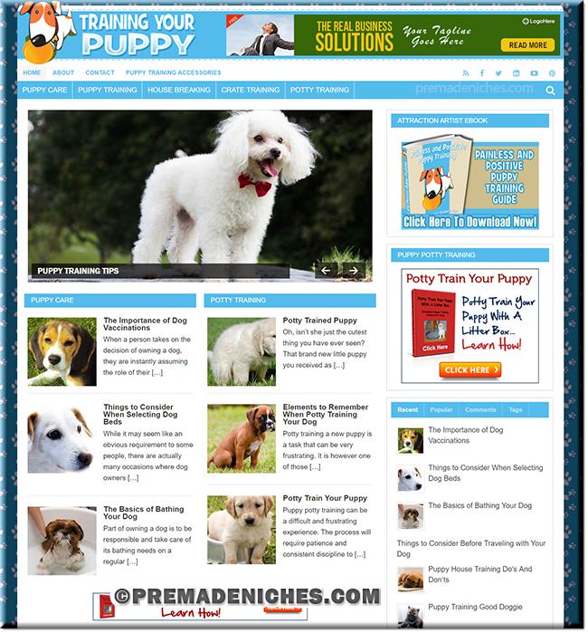 Puppy Training PLR Website