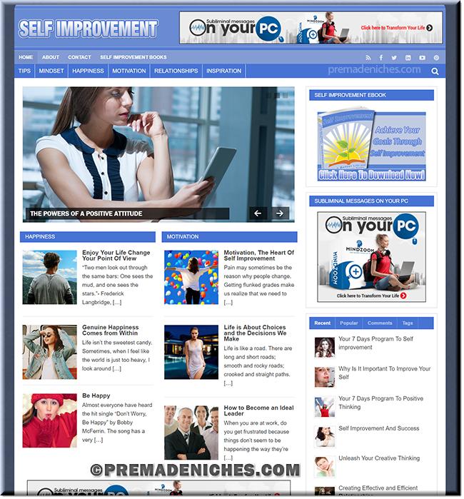 Self Improvement PLR Website