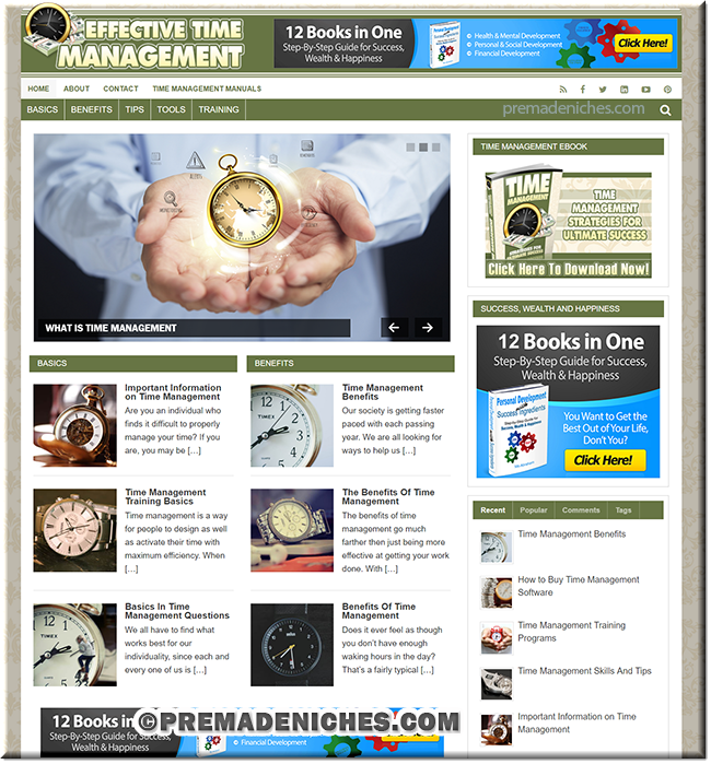 Time Management PLR Site