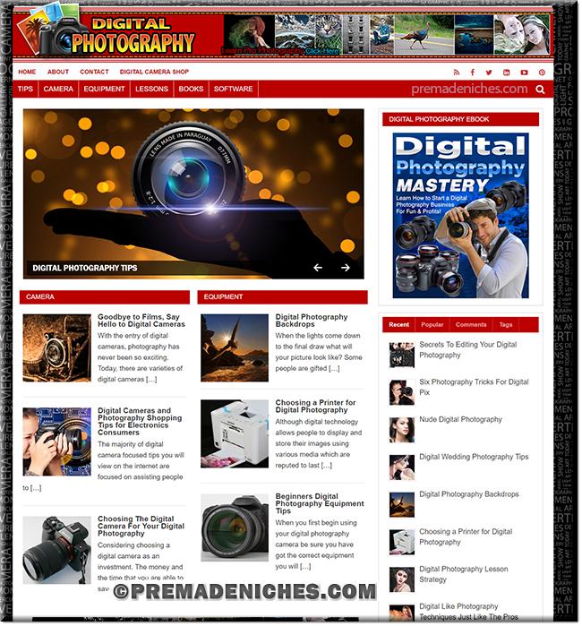 Digital Photography WordPress Site