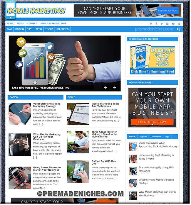 Mobile Marketing PLR Blog