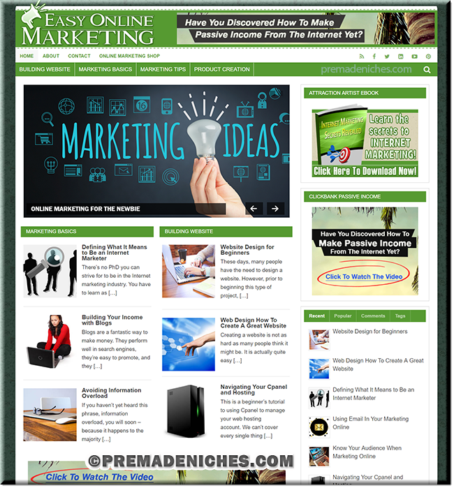 Online Marketing PLR Website