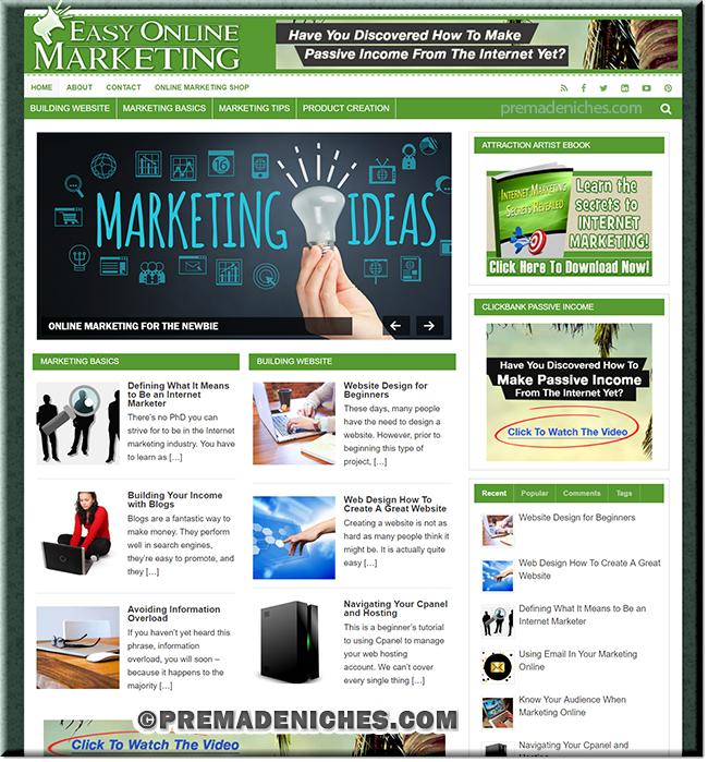 Online Marketing PLR Website