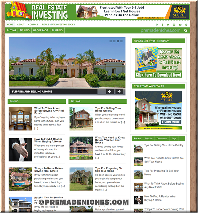 Real Estate Investing Turnkey Blog with PLR