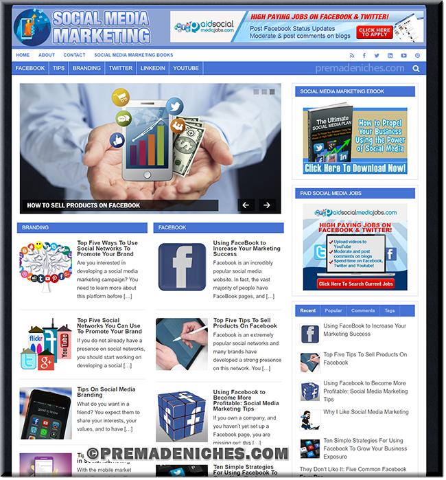 Social Media Marketing Ready Made Blog with PLR