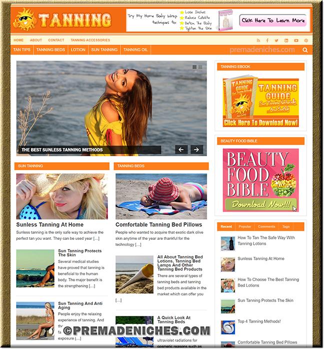 Tanning Guide PLR Website