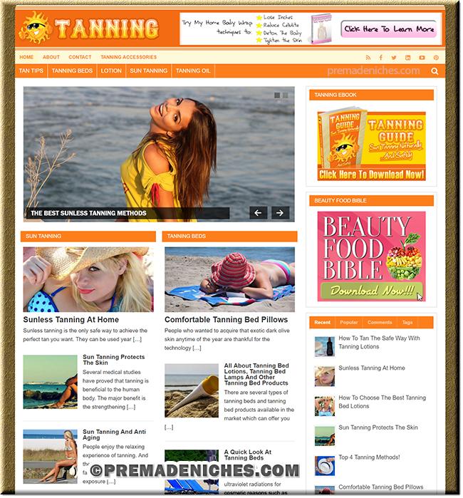 Tanning Guide PLR Website