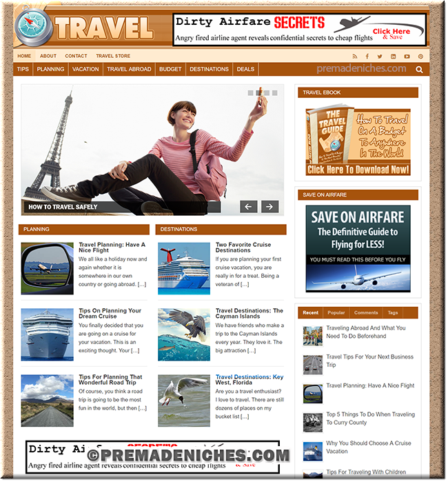 Travel Ready Made PLR Website