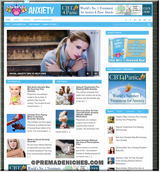 Anxiety Blog With PLR eBook