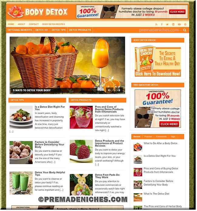 Body Detox PLR Blog with eBook