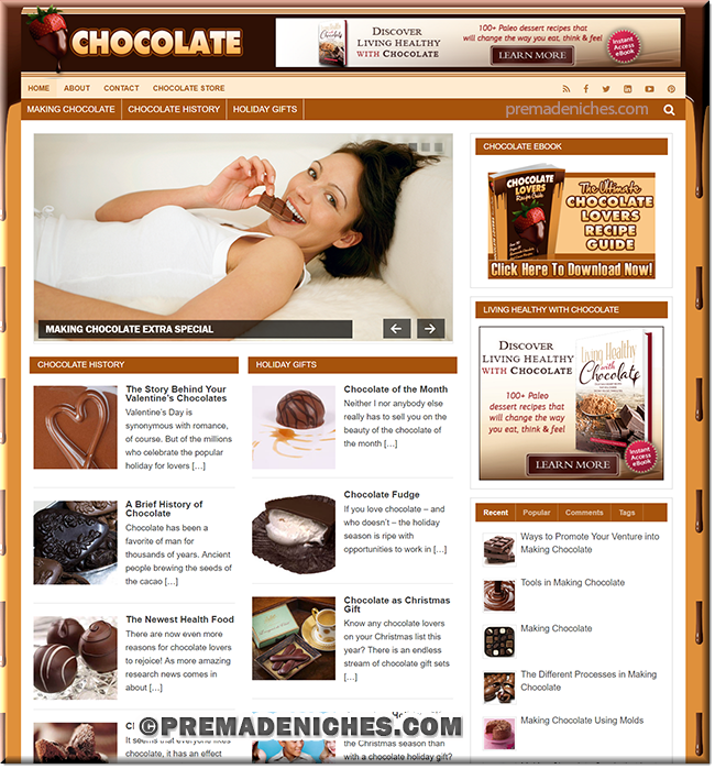 Chocolate Blog With PLR eBook