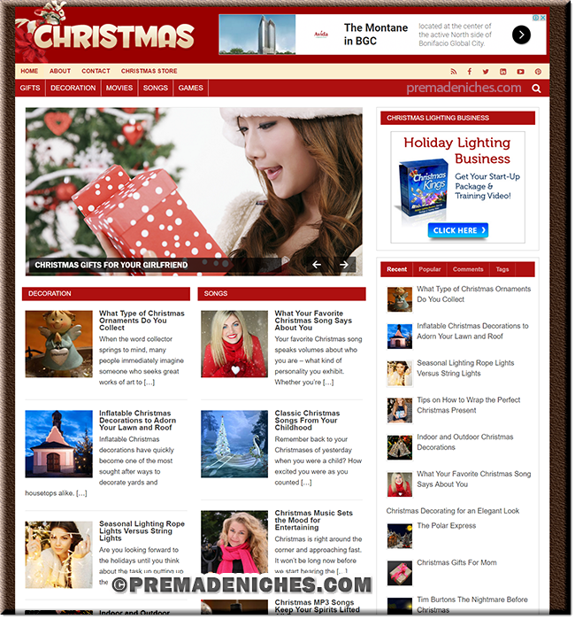 Ready Made Christmas PLR Website