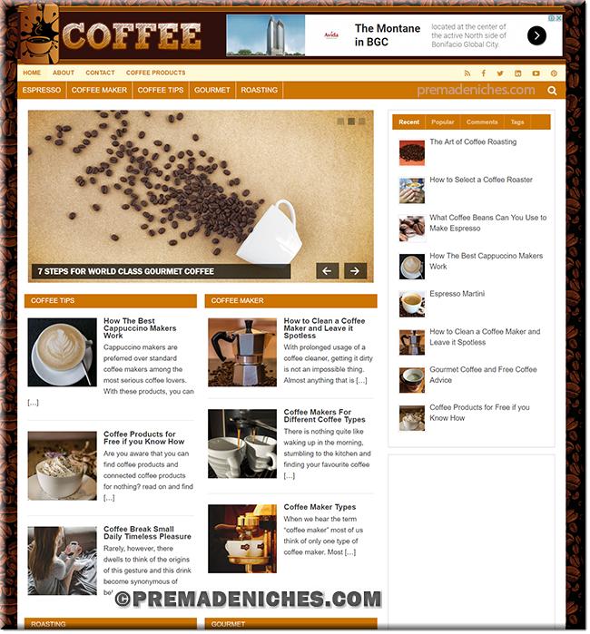 Coffee PLR Niche Blog