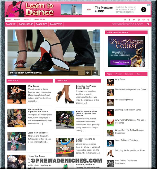 Dance PLR Niche Blog