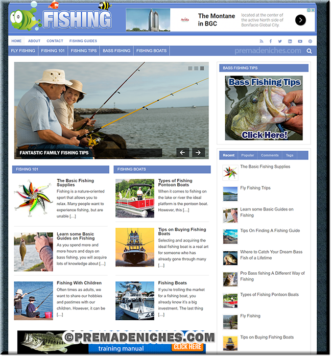 Ready Made Fishing PLR Website