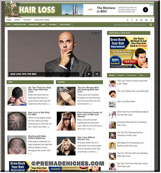 Hairloss PLR Niche Blog