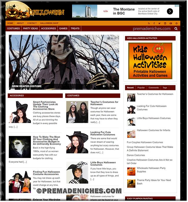 Halloween PLR Niche Blog