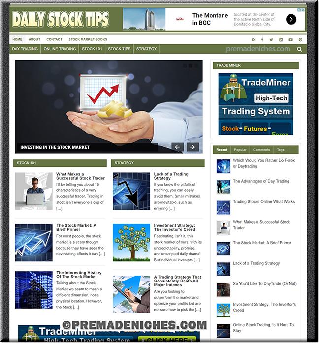 Stock Trading PLR Blog