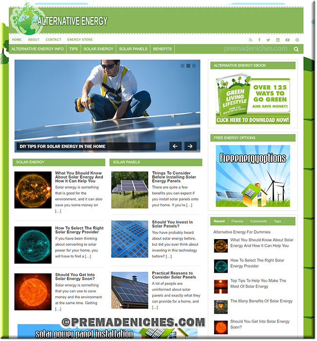 Alternative Energy PLR Blog