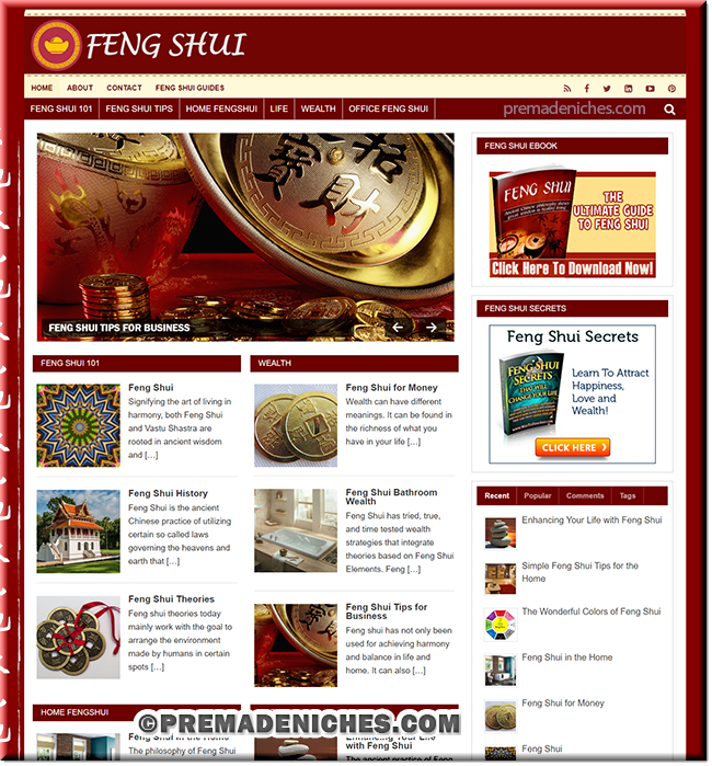 Feng Shui PLR Blog with eBook