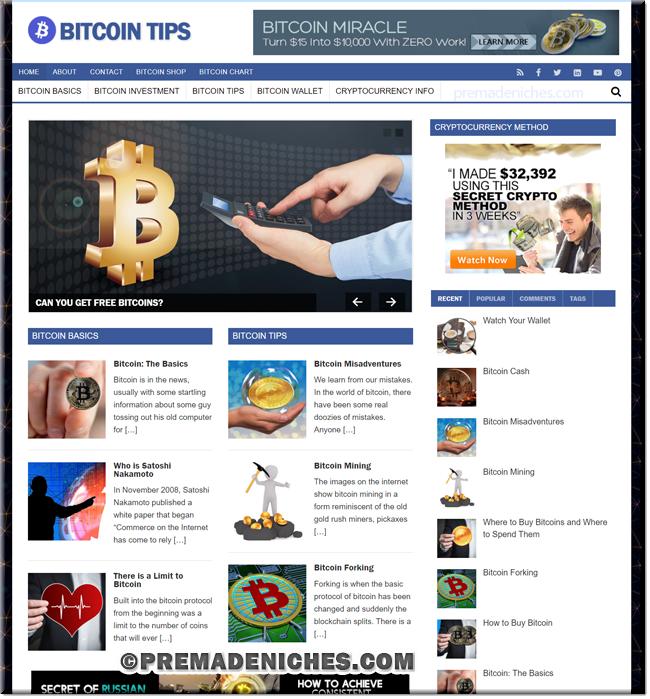 Bitcoin PLR Niche Blog