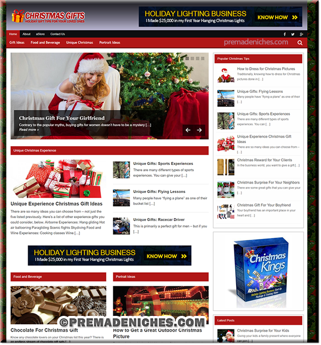 Ready Made Christmas Gifts Blog with Resell Rights