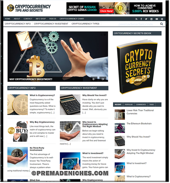Cryptocurrency PLR Blog