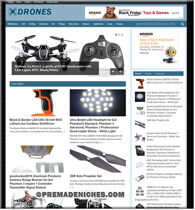 Drones and Quadcopters Amazon Affiliate Website
