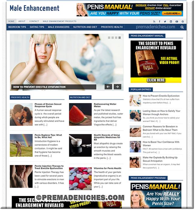 Male Enhancement PLR Blog