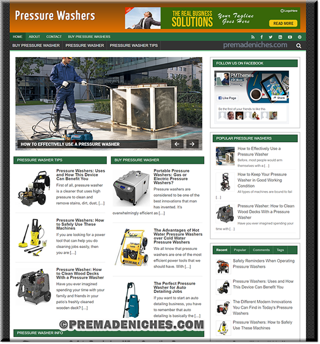 pressure washer plr blog