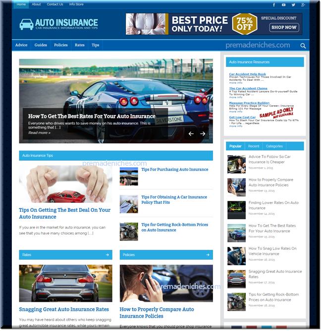 Auto Insurance PLR Blog