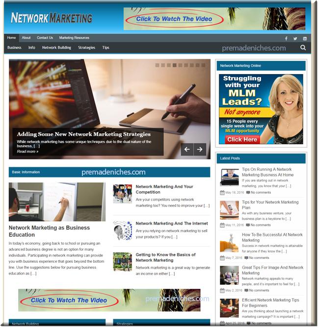 Network Marketing PLR Blog + PLR Articles