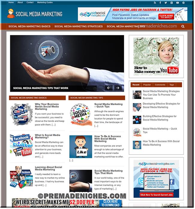 Social Media Marketing PLR Website