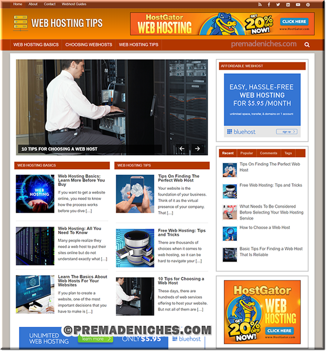 Web Hosting Ready Made WordPress Website